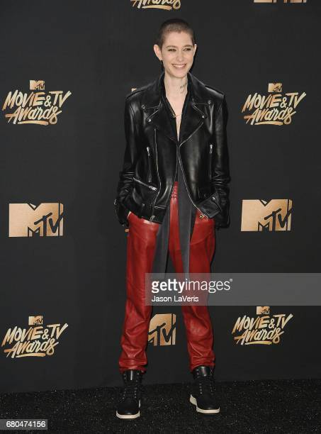 Actor Asia Kate Dillon poses in the press room at the 2017 MTV Movie and TV Awards at The Shrine Auditorium on May 7 2017 in Los Angeles California