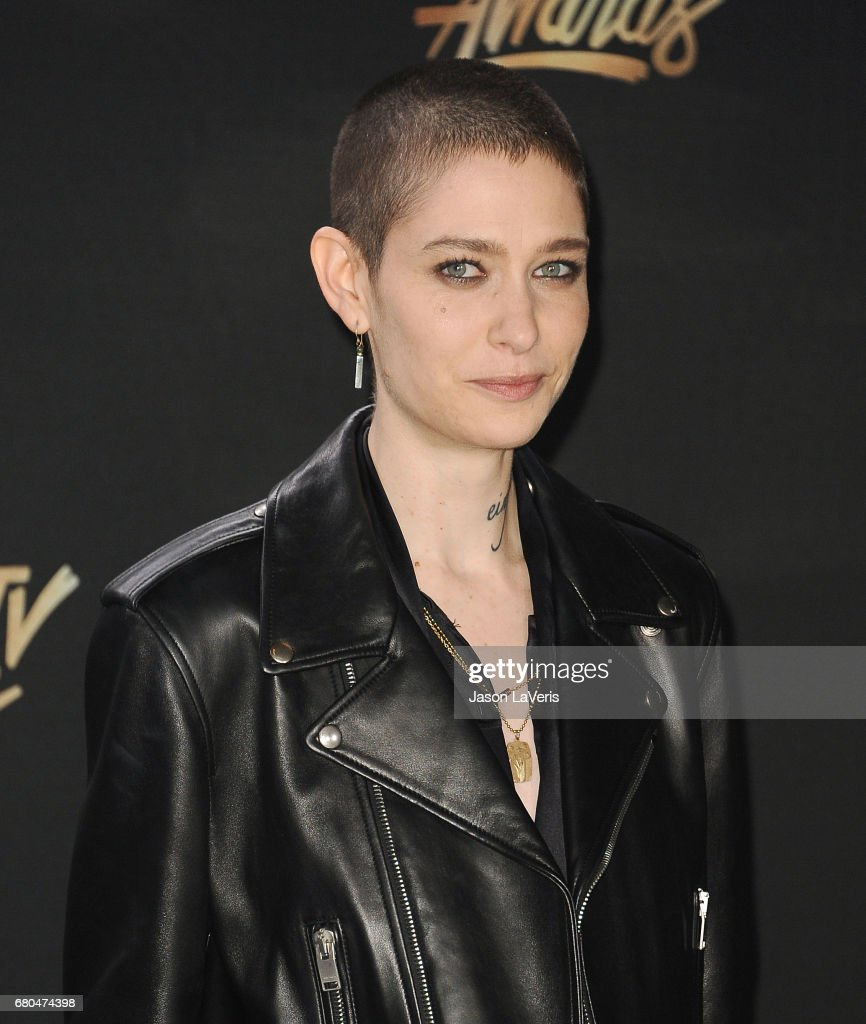 Actor Asia Kate Dillon poses in the press room at the 2017 MTV Movie and TV Awards at The Shrine Auditorium on May 7, 2017 in Los Angeles, California.