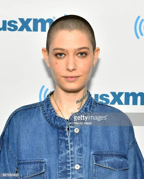 Actor Asia Kate Dillon visits SiriusXM Studios on March 23 2018 in New York City