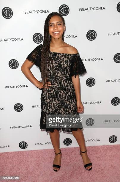 Actor Asia Monet Ray attends Day 1 of the 5th Annual Beautycon Festival Los Angeles at the Los Angeles Convention Center on August 12 2017 in Los...