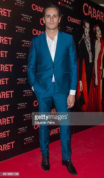 Actor Asier Etxeandia attends the 'Cabaret Broadway Musical' photocall at Rialto theatre on October 8 2015 in Madrid Spain