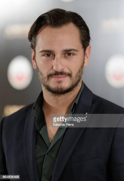 Actor Asier Etxeandia attends the 'El pelotari y la fallera' photocall at Me hotel on April 5 2017 in Madrid Spain