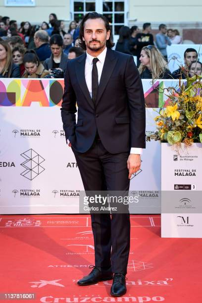 Actor Asier Etxeandia attends the Malaga Film Festival 2019 closing day gala at Cervantes Theater on March 23 2019 in Malaga Spain