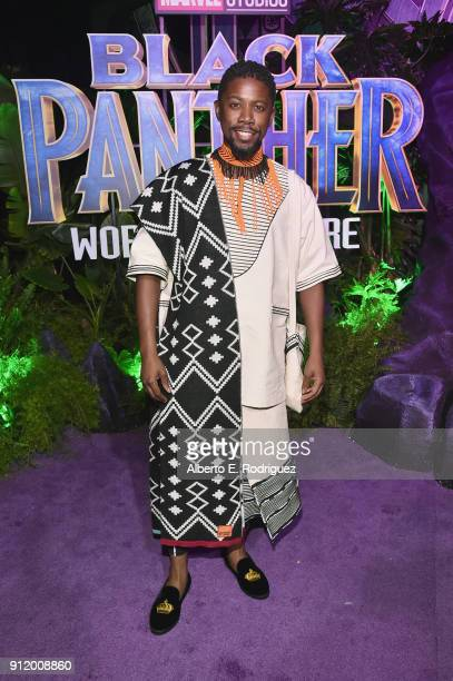 Actor Atandwa Kani at the Los Angeles World Premiere of Marvel Studios' BLACK PANTHER at Dolby Theatre on January 29 2018 in Hollywood California