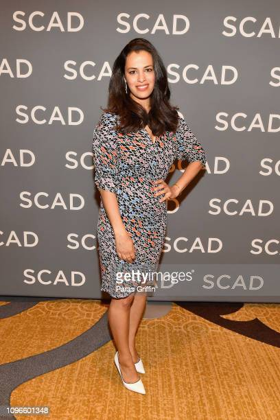 Actor Athena Karkanis attends the Manifest press junket during SCAD aTVfest 2019 at Four Seasons Hotel on February 9 2019 in Atlanta Georgia