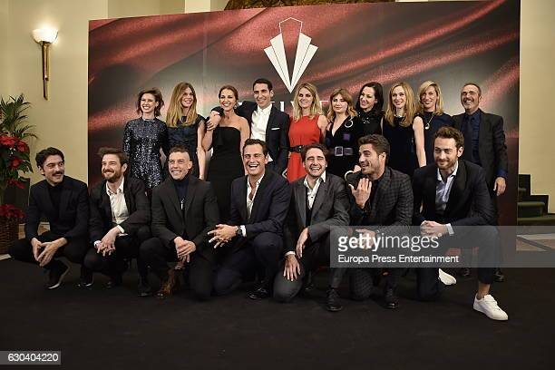 Actor attend the party for the series final of 'Galerias Velvet' at Continental hotel on December 21 2016 in Madrid Spain