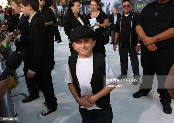 Actor Atticus Shaffer arrives at Disney's 'Frankenweenie' premiere at the El Capitan Theatre on September 24 2012 in Hollywood California
