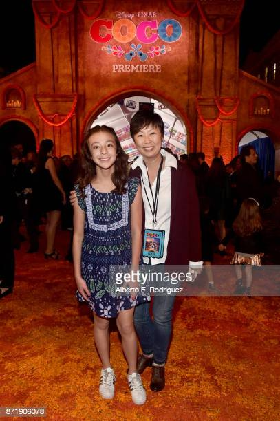 Actor Aubrey AndersonEmmons and Amy Anderson at the US Premiere of DisneyPixar's 'Coco' at the El Capitan Theatre on November 8 in Hollywood...