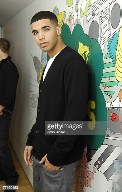 Actor Aubrey Graham of the TV show DeGrassi High visits MTV's TRL at MTV Studios October 2 2007 in New York City