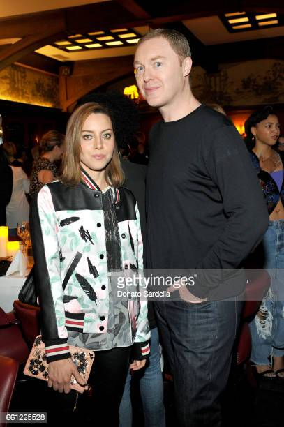 Actor Aubrey Plaza and Coach Creative Director Stuart Vevers attends the Coach Rodarte celebration for their Spring 2017 Collaboration at Musso Frank...