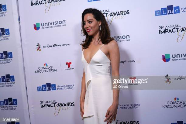 Actor Aubrey Plaza attends the 20th Annual National Hispanic Media Coalition Impact Awards Gala at Regent Beverly Wilshire Hotel on February 23 2018...