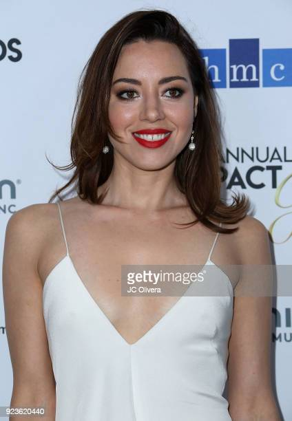 Actor Aubrey Plaza attends the 21th Annual National Hispanic Media Coalition Impact Awards Gala at Regent Beverly Wilshire Hotel on February 23 2018...
