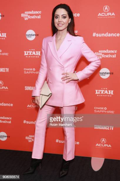 Actor Aubrey Plaza attends the 'An Evening With Beverly Luff Linn' premiere during the 2018 Sundance Film Festival at The Ray on January 20 2018 in...