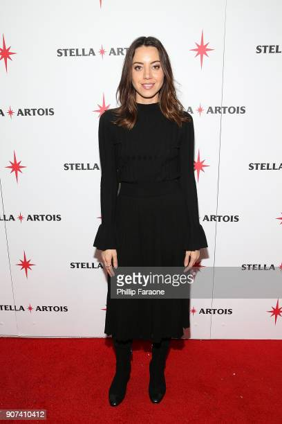 Actor Aubrey Plaza attends the Lizzie cast party in Cafe Artois during the Sundance Film Festival on January 19 2018 in Park City Utah