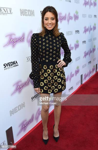 Actor Aubrey Plaza attends the Los Angeles Premiere of Ingrid Goes West presented by SVEDKA Vodka and Avenue Los Angeles at ArcLight Cinemas on July...