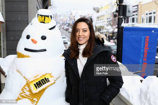 Actor Aubrey Plaza of 'An Evening With Beverly Luff Linn' attends The IMDb Studio and The IMDb Show on Location at The Sundance Film Festival on...