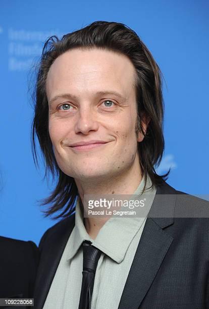 Actor August Diehl attends the 'Wer wenn nicht wir' Photocall during day eight of the 61st Berlin International Film Festival at the Grand Hyatt on...