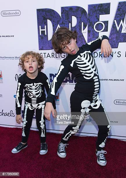 Actor August Maturo and younger brother Ocean Maturo attend Starlight's Dream Halloween 2016 on October 22 2016 in Los Angeles California