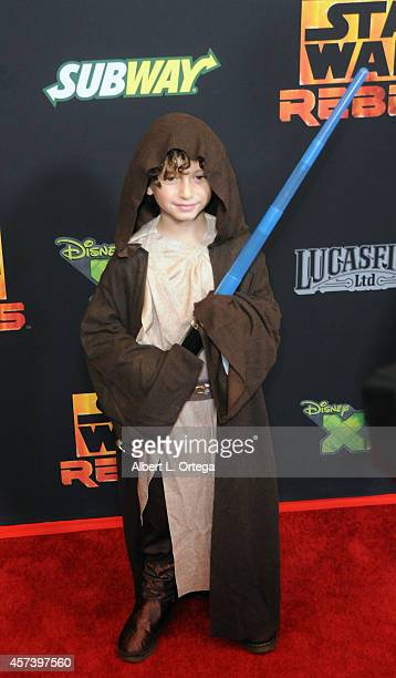Actor August Maturo arrives for Disney XD's 'Star Wars Rebels Spark Of Rebellion' Los Angeles Special Screening held at AMC Century City 15 theater...