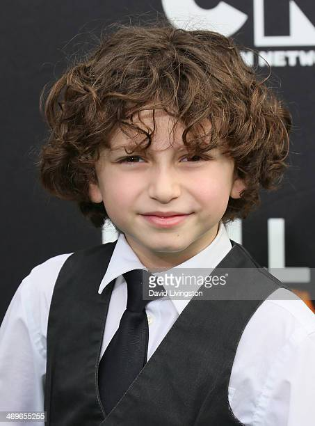 Actor August Maturo attends Cartoon Network's Hall of Game Awards at Barker Hangar on February 15 2014 in Santa Monica California