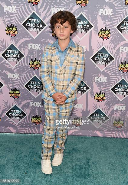 Actor August Maturo attends Teen Choice Awards 2016 at The Forum on July 31 2016 in Inglewood California