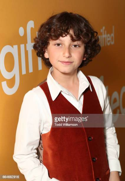 Actor August Maturo attends the Los Angeles Premiere of 'GIFTED' at Pacific Theatres at The Grove on April 4 2017 in Los Angeles California