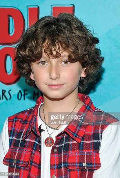 Actor August Maturo attends the Los Angeles red carpet screening of 'Middle School The Worst Years Of My Life' at TCL Chinese Theatre on October 5...