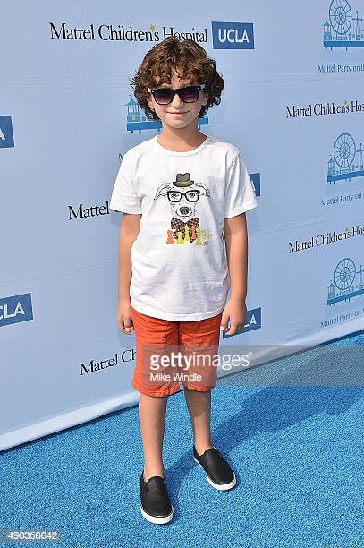 Actor August Maturo attends the Mattel Party On The Pier at Santa Monica Pier on September 27 2015 in Santa Monica California