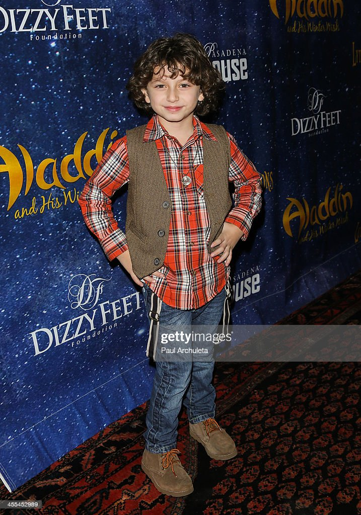 Actor August Maturo attends the opening night of 'Aladdin And His Winter Wish' at the Pasadena Playhouse on December 11, 2013 in Pasadena, California.