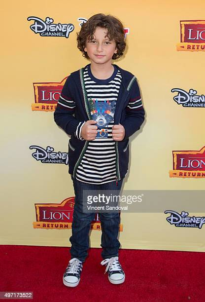 Actor August Maturo attends the premiere of Disney Channel's 'The Lion Guard Return Of The Roar' at Walt Disney Studios on November 14 2015 in...