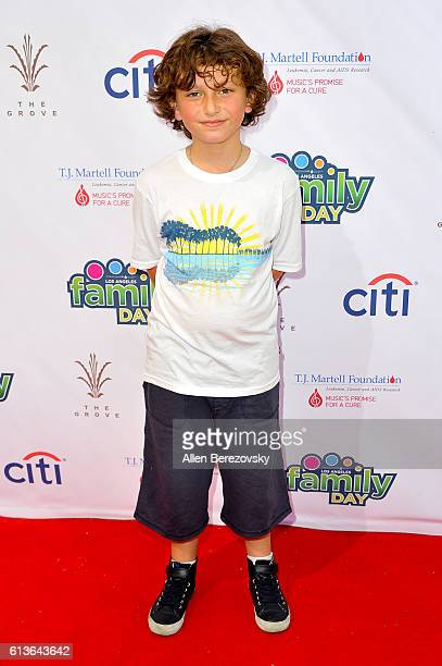 Actor August Maturo attends the TJ Martell Foundation Los Angeles family day at The Grove on October 9 2016 in Los Angeles California