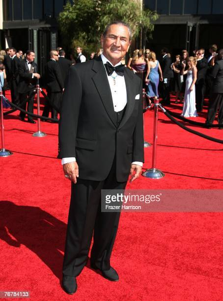Actor August Schellenberg arrives at the 59th Annual Primetime Emmy Awards at the Shrine Auditorium on September 16, 2007 in Los Angeles, California.