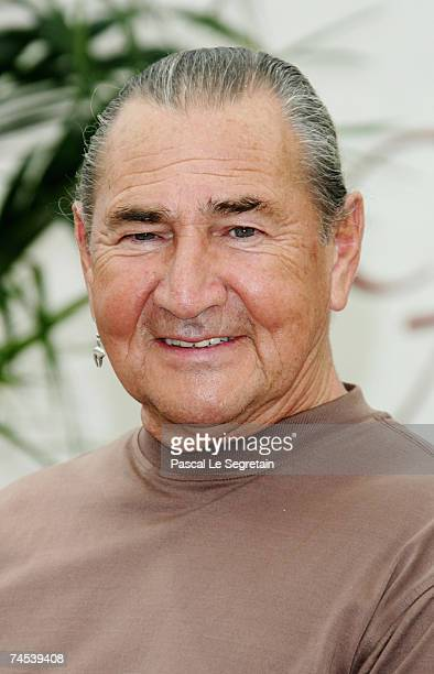 Actor August Schellenberg attends a photocall promoting the television serie 'Bury My Heart at Wounded Knee' on the first day of the 2007 Monte Carlo...