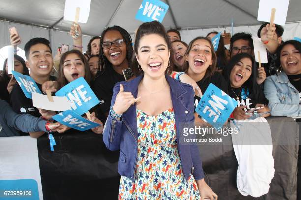 Actor Auli'i Cravalho attends WE Day California to celebrate young people changing the world at The Forum on April 27 2017 in Inglewood California