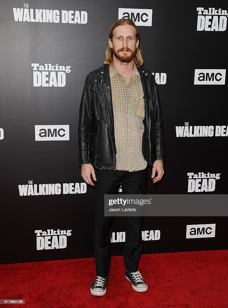 Actor Austin Amelio attends the live, 90-minute special edition of 'Talking Dead' at Hollywood Forever on October 23, 2016 in Hollywood, California.