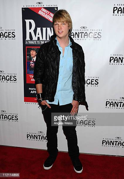 Actor Austin Anderson arrives at the opening night of 'Rain A Tribute To The Beatles' at the Pantages Theatre on April 12 2011 in Hollywood California