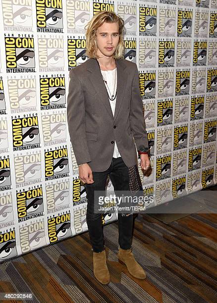 Actor Austin Butler attends the The Shannara Chronicles press room during ComicCon International 2015 at the Hilton Bayfront on July 10 2015 in San...