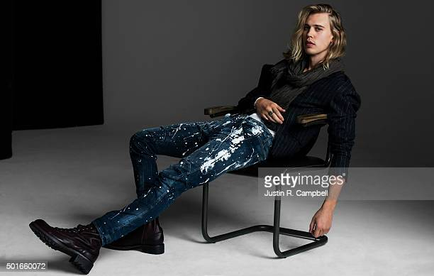 Actor Austin Butler is photographed for Just Jared on December 9 2015 in Los Angeles California