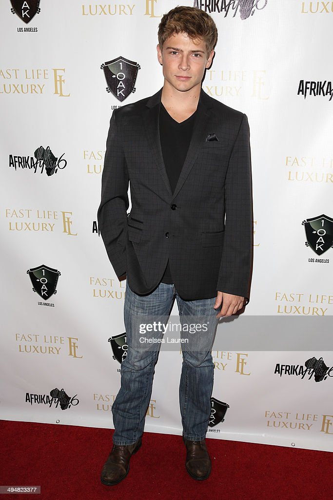 Actor Austin James arrives at the For Our Girls of Nigeria benefit concert hosted by singer/actor Tyrese Gibson at 1OAK on May 30, 2014 in West Hollywood, California.
