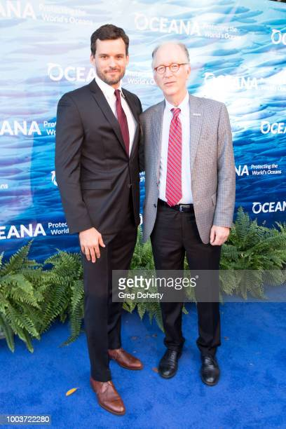 Actor Austin Nichols and Oceana CEO Andy Sharpless attend the 11th Annual SeaChange Summer Party on July 21, 2018 in Laguna Beach, California.