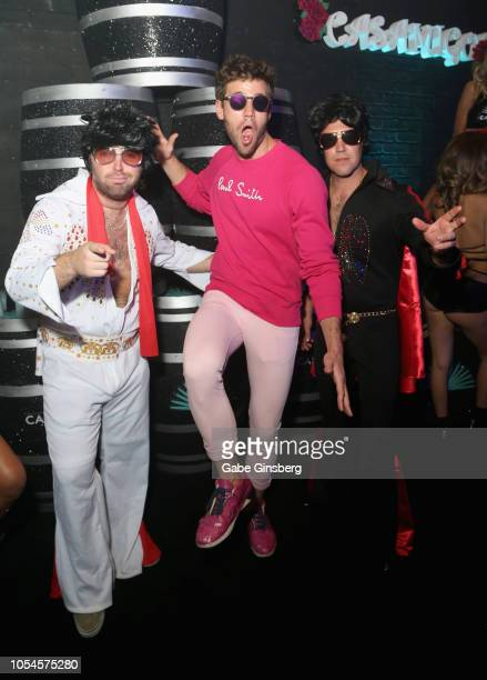 Actor Austin Stowell and guests attend Casamigos CATCH Halloween party at CATCH Las Vegas in ARIA Resort Casino on October 27 2018 in Las Vegas Nevada
