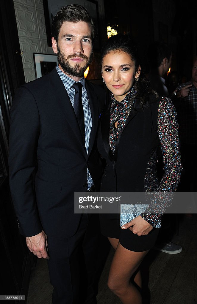 Actor Austin Stowell and Nina Dobrev attend The NYMag, Vulture + TNT Celebrate the Premiere of 'Public Morals' on August 12, 2015 in New York City.