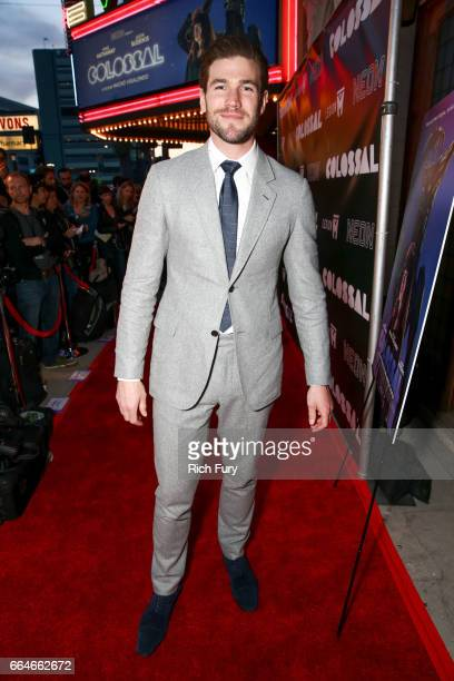 Actor Austin Stowell arrives at the premiere of Neon's Colossal at the Vista Theatre on April 4 2017 in Los Angeles California