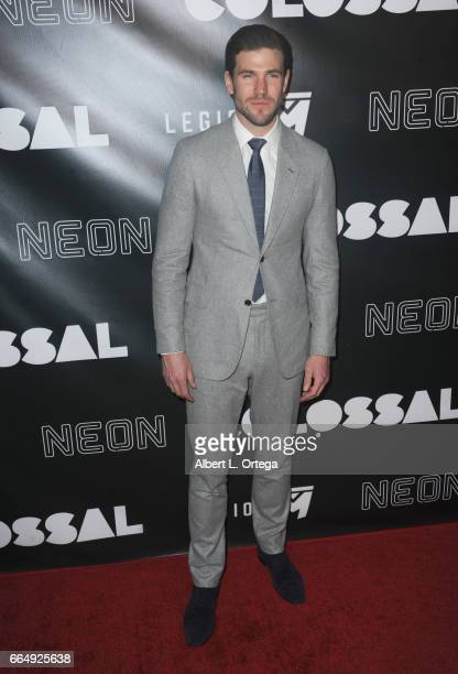 Actor Austin Stowell arrives for the Premiere Of Neon's Colossal held at the Vista Theatre on April 4 2017 in Los Angeles California