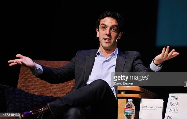 Actor, author and director B.J. Novak speaks at the 13th annual Vegas Valley Book Festival at the Clark County Library on October 16, 2014 in Las...
