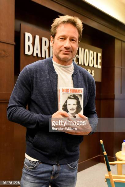 Actor / Author David Duchovny speaks about his new book Miss Subways at Barnes Noble at The Grove on May 4 2018 in Los Angeles California