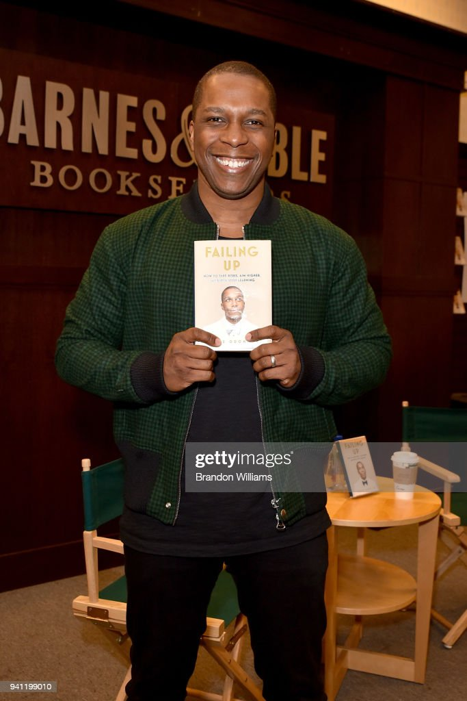Actor / author Leslie Odom Jr speaks and signs copies of his new book 'Falling Up' at Barnes & Noble at The Grove on April 2, 2018 in Los Angeles, California.