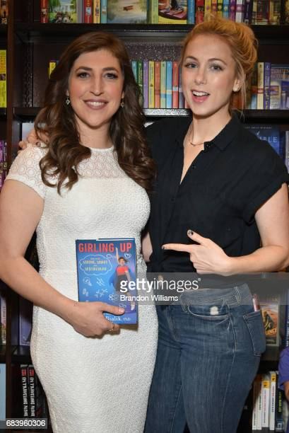 Actor / author Mayim Bialik and comedian Iliza Shlesinger attend the book signing for 'Girling Up How to Be Strong Smart and Spectacular' at Barnes...