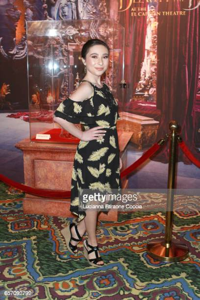 Actor Ava Cantrell attends Red Walk special screening of Disney's Beauty And The Beast at El Capitan Theatre on March 23 2017 in Los Angeles...