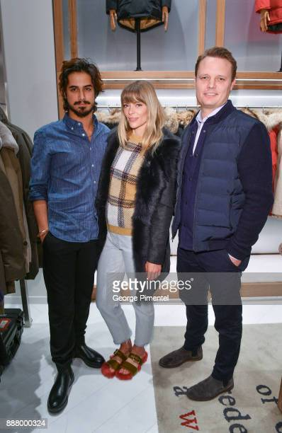 Actor Avan Jogia Actor Jaime King and President of Woolrich Nick Brayton attend Woolrich Yorkdale Grand Opening at Yorkdale Shopping Center on...